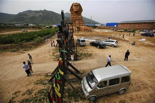 بناء كامل لأبو الهول في الصين نسخة لأبو الهول في الجيزة 1