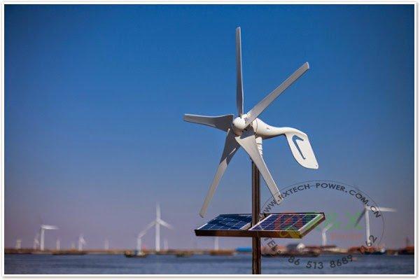 توليد الكهرباء من الطاقة الشمسية و طاقة الرياح للمنازل