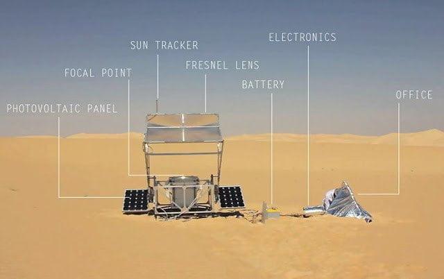 طابعة ثلاثية الأبعاد تحول الرمال إلى زجاج بحرارة الشمس فقط ! 7
